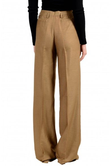Versace Women's Silk Brown Wide Leg Casual Pants: Picture 2