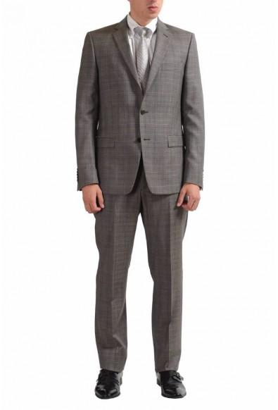 Versace Collection Men's 100% Wool Plaid Two Button Suit