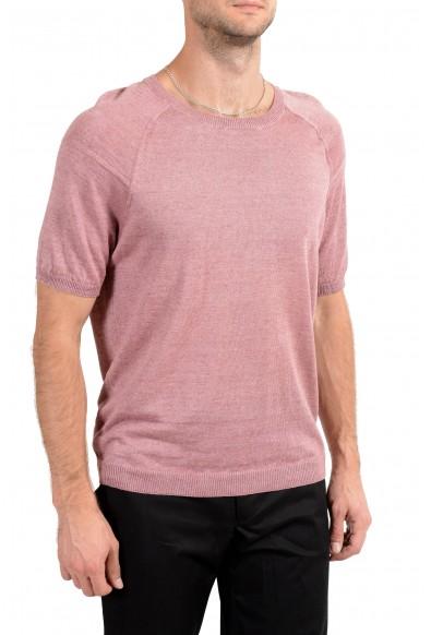"Hugo Boss ""Olvin"" Men's 100% Linen Knitted Crewneck Short Sleeve Casual Shirt: Picture 2"