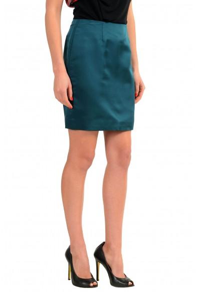 Versace Green 100% Silk Green Women's Mini Skirt: Picture 2