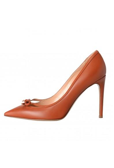 Valentino Garavani Women's Leather Bow Cognac Pumps High Heels Shoes: Picture 2