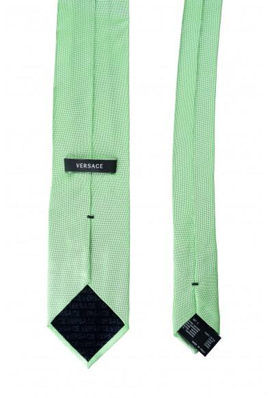 Versace Men's ICRSTK1 100% Silk Green Tie: Picture 2