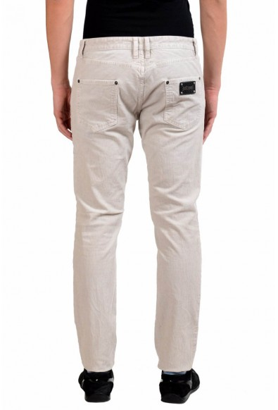 Just Cavalli Men's Ivory Stretch Corduroy Jeans: Picture 2