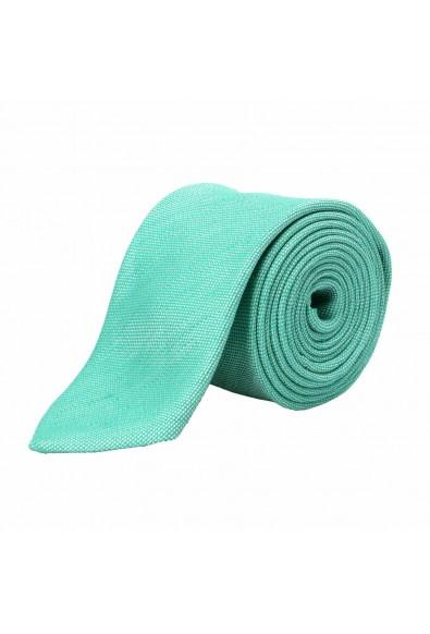 Hugo Boss Men's Green Linen Silk Tie