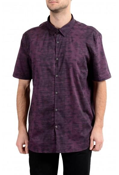 John Varvatos Multi-Color Short Sleeve Men's Casual Shirt