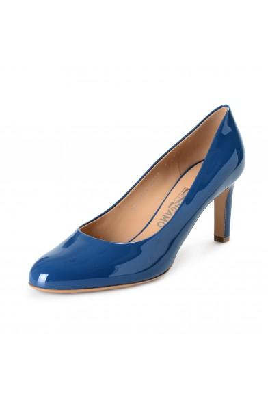 "Salvatore Ferragamo Women's ""Leo"" Pacific Patent Leather High Heel Pumps Shoes"