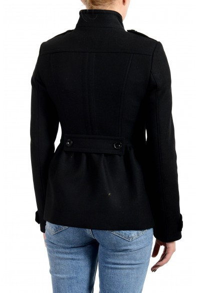 Burberry Women's Black Wool Cashmere Double Breasted Jacket Coat: Picture 2