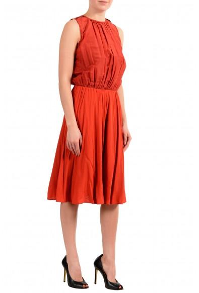 "Hugo Boss Women's ""Egioie"" Silk Orange Sleeveless Sundress Dress: Picture 2"