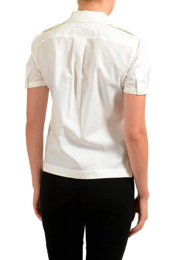 Dsquared2 White Short Sleeve Button Front Women's Shirt: Picture 2