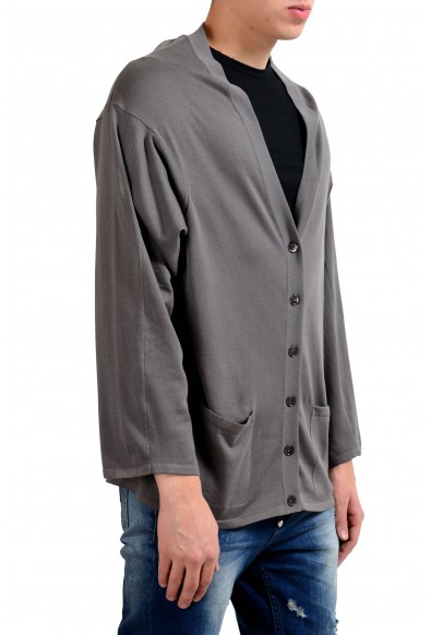 Malo Men's Gray Oversized Light Cardigan Sweater: Picture 2