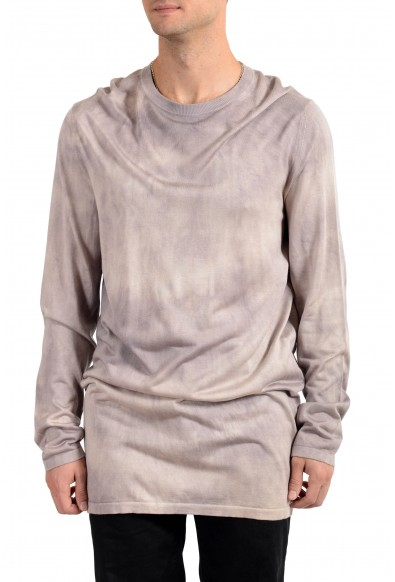 Versace Men's 100% Silk Crewneck Oversized Pullover Sweater