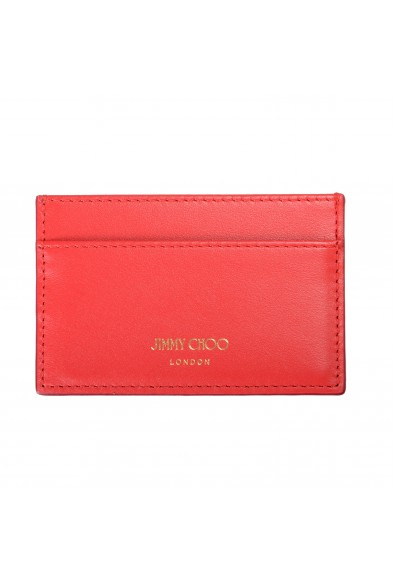"""Jimmy Choo Women's Red Leather """"Athini"""" Card Holder"""