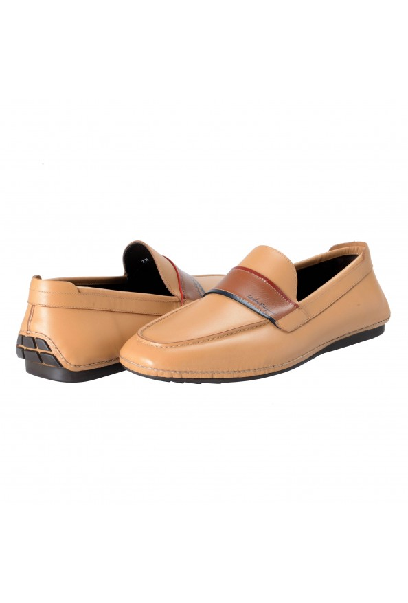 """Salvatore Ferragamo Men's """"FLORIDA"""" Light Brown Leather Loafers Slip On Shoes: Picture 3"""