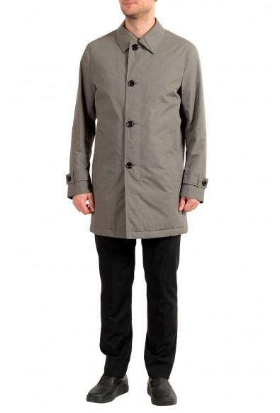"Hugo Boss Men's ""Dain4"" Gray Car Zip Up Button Down Coat"