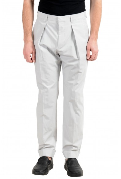 "Hugo Boss ""Ole"" Men's Ivory Pleated Casual Pants"