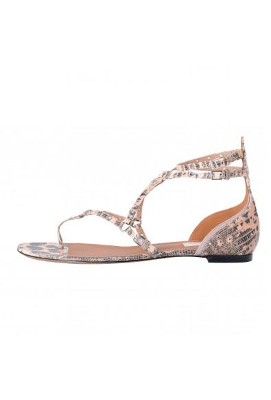 Valentino Garavani Women's Strappy Snake Skin Flat Sandals Shoes: Picture 2