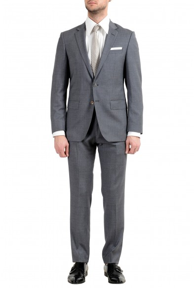 "Hugo Boss ""Hutson5/Gander2"" Men's 100% Wool Slim Gray Two Button Suit"