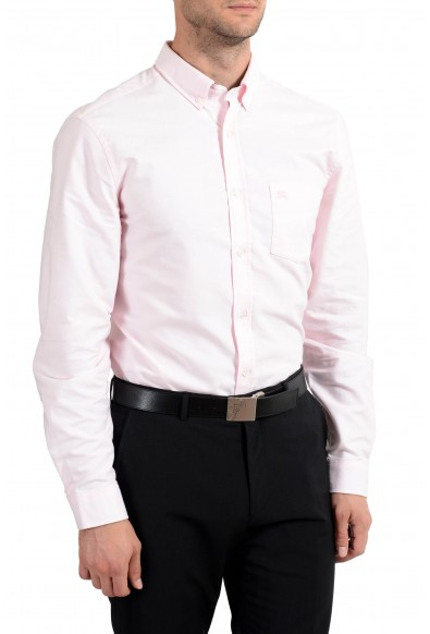Burberry Men's Light Pink Button-Down Long Sleeve Casual Shirt: Picture 2
