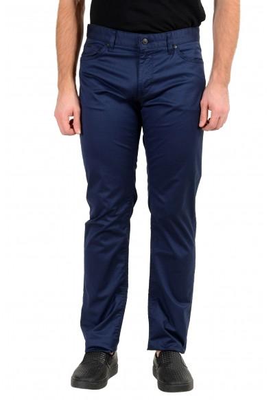 "Hugo Boss Men's ""Maine3-20"" Regular Fit Blue Stretch Jeans"