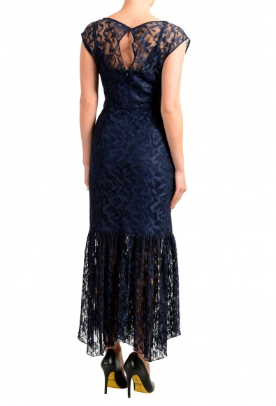 "Hugo Boss Women's ""Kalili-1"" Dark Blue Lace Evening Dress: Picture 2"