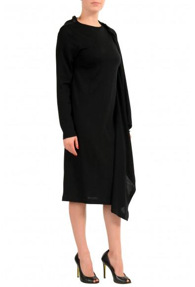 Maison Margiela 1 Women's 100% Wool Black Buttonless Cardigan Sweater: Picture 2
