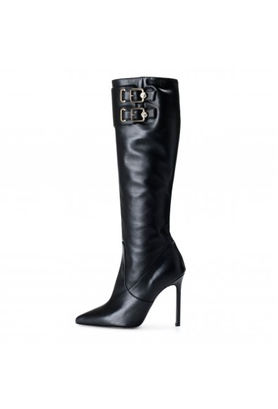 Versace Collection Women's Leather Boots High Heel Boots Shoes: Picture 2