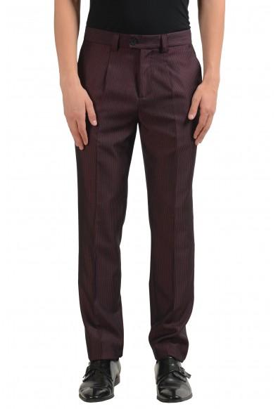 Versace Versus Men's Wool Striped Pleated Dress Pants