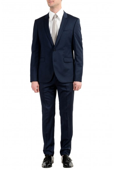 """Hugo Boss """"Phil/Taylor182"""" Men's 100% Wool Extra Slim Striped Two Button Suit"""