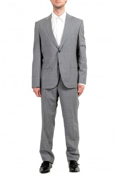 "Hugo Boss ""Johnstons4/Lenon1"" Men's 100% Wool Plaid Two Button Suit"