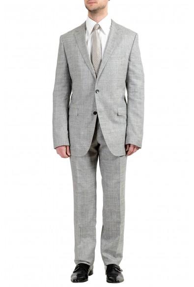 """Hugo Boss """"Novan5/Ben2"""" Men's Slim Wool Silk Linen Gray Two Button Suit"""