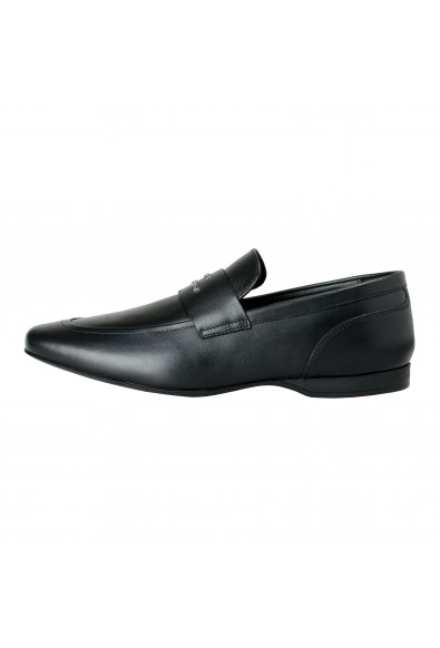 Versace Collection Men's Black Leather Loafers Slip On Shoes: Picture 2