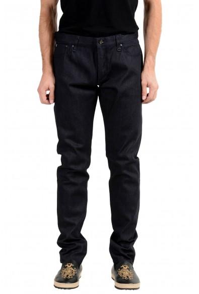John Varvatos Men's Dark Blue Slim Skinny Jeans