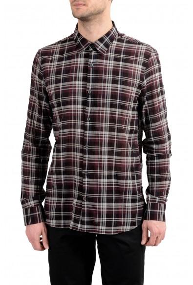 John Varvatos Multi-Color Checkered Long Sleeve Men's Shirt