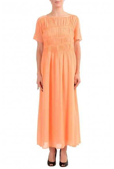 "Hugo Boss ""Dekassa"" Women's Orange Short Sleeve Maxi Dress"