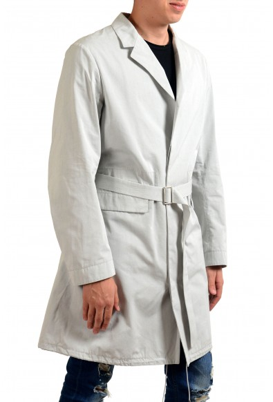 Jil Sander Men's Gray Button Up Belted Trench Coat : Picture 2