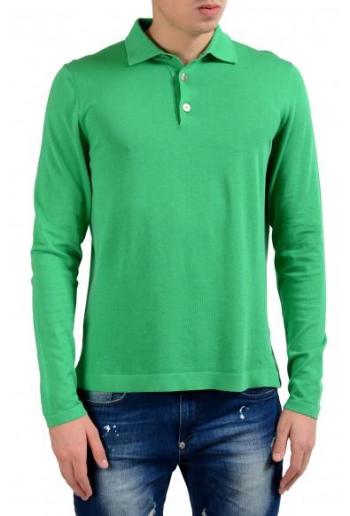 Malo Men's Shamrock Green Polo Light Sweater