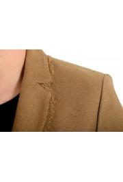 Versace Women's Sand Brown Silk Two Button Blazer Jacket: Picture 6