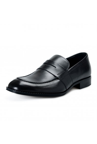 Versace Men's DSU6638 Black Leather Moccasins Slip On Shoes