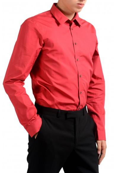 Jil Sander Men's Red Long Sleeve Dress Shirt : Picture 2