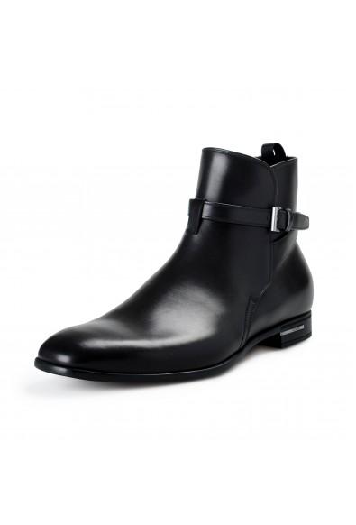 "Prada Men's ""2TC029"" Black Leather Ankle Boots Shoes"