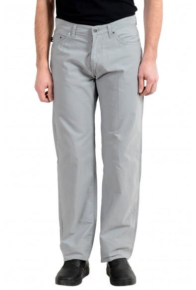 Exte Men's Gray Light Straight Leg Jeans