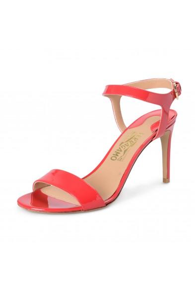 "Salvatore Ferragamo Women's ""Elita"" Patent Leather High Heel Sandals Shoes"