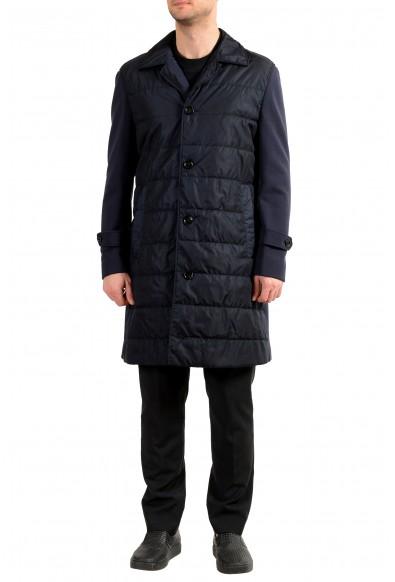 "Hugo Boss Men's ""Daban-J"" Blue Regular Fit Button Down Coat"