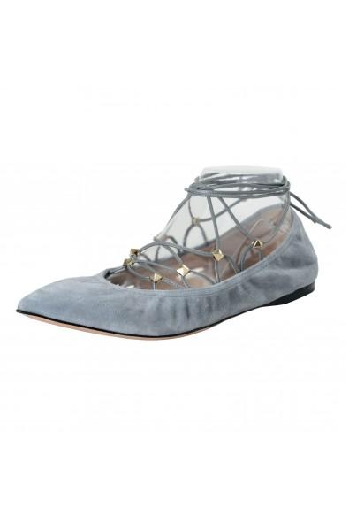 Valentino Garavani Women's Leather Studded Ballerina Flats Shoes