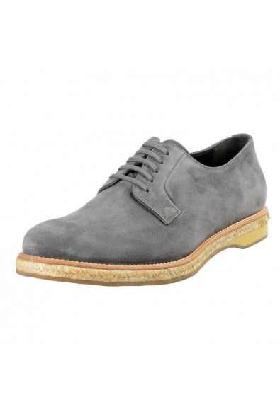 Prada Men's Gray Suede Leather Casual Oxfords Shoes