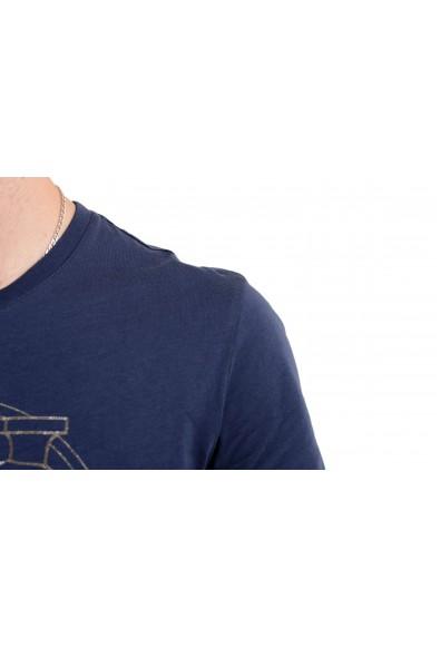 Versace Jeans Men's Blue Graphic Short Sleeve T-Shirt : Picture 2
