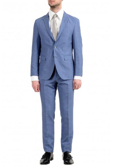 """Hugo Boss """"T-Nebil/Bent"""" Men's Silk Wool Linen Blue Two Button Suit"""