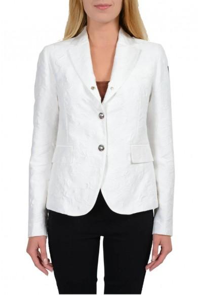 "Moncler ""Giacca"" Gamme Bleu Silk White Three Buttons Basic Jacket"