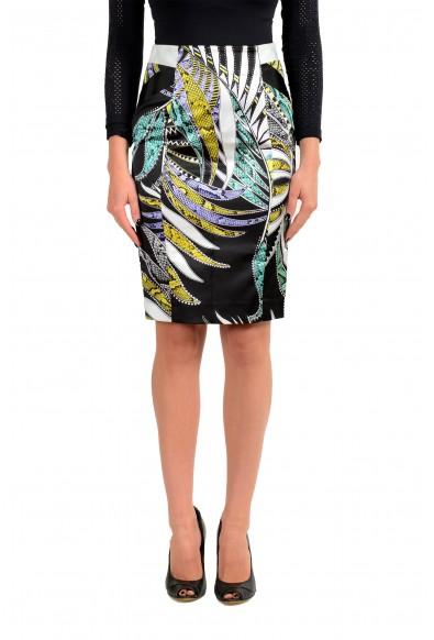 Just Cavalli Women's Multi-Color Floral Print Pencil Skirt