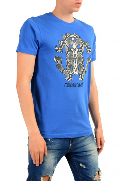 Roberto Cavalli Men's Blue Graphic Print T-Shirt : Picture 2